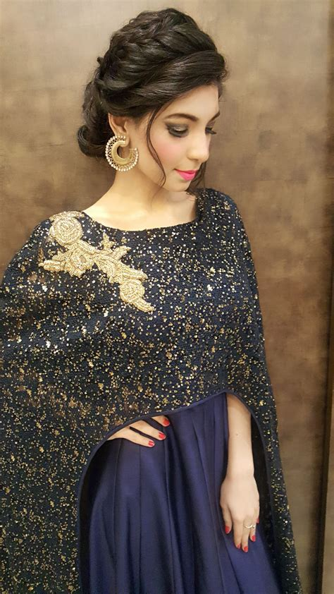 hairstyles for girl on gown poufed braided bun for sangeet or reception