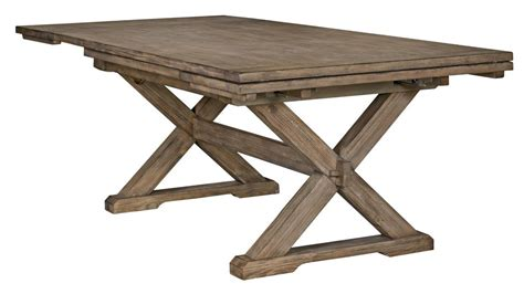 rustic wood dining table with leaves rustic weathered gray saw buck dining table with self