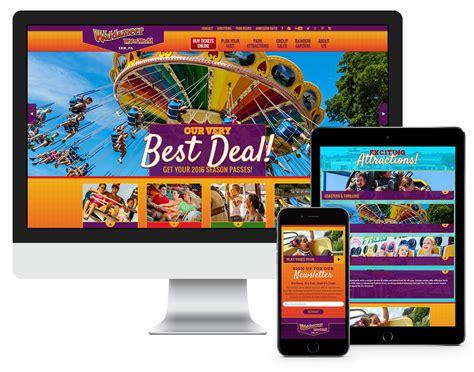 theme park online amusement park website gets stunning design with wordpress