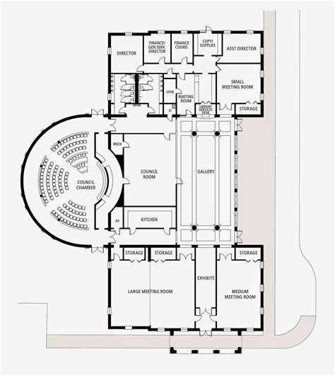 municipal hall floor plan urban scale richmond a proposed new city hall for