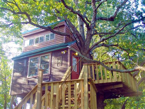 real treehouse c in a real tree house in southern illinois national