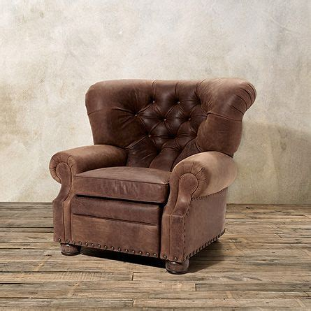 arhaus recliner beacon motion tufted leather recliner in sycamore arhaus