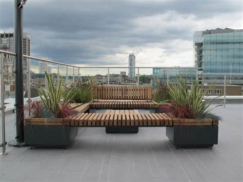 planters with bench seating railroad planters with bench seating timber planters