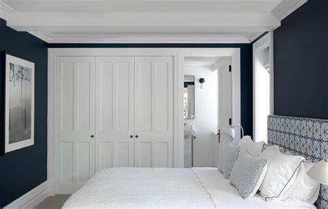 Black Master Db Navy bedroom interior design justine hugh jones interior