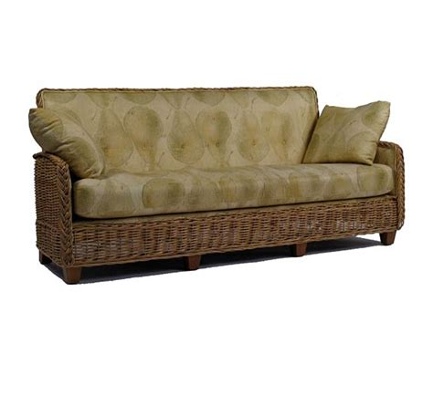 Wicker Sofa by Hutton Square Back Sofa Wicker Material Indoor