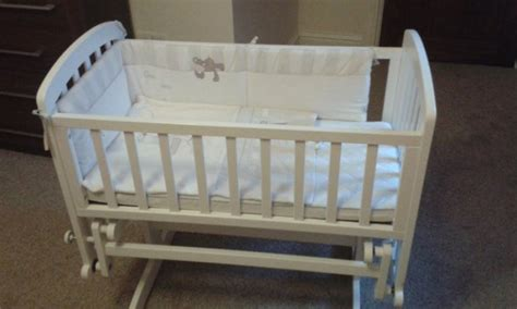 White Wooden Glider Baby Crib For Sale In Claremorris White Baby Crib For Sale