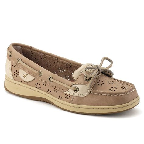 women s angelfish boat shoe women s floral perf leather angelfish boat shoe