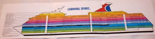 Carnival Cruise Ship Floor Plans by Carnival Spirit Pictorial Ship Map