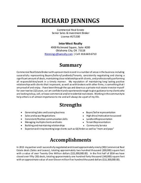 Resume Real Estate License Resume Richard