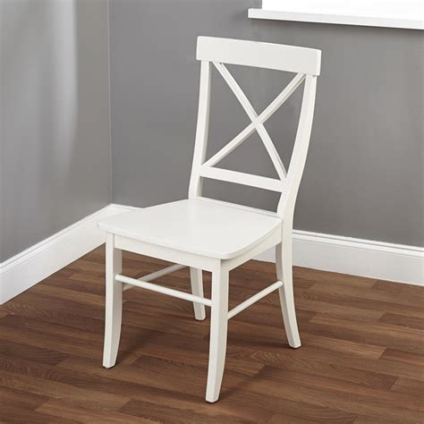 simple living easton antique white cross back chair free