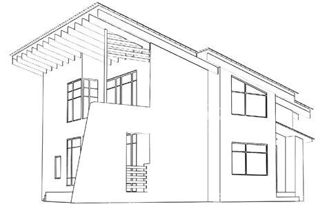 modern house drawing modern house drawing perspective floor plans design