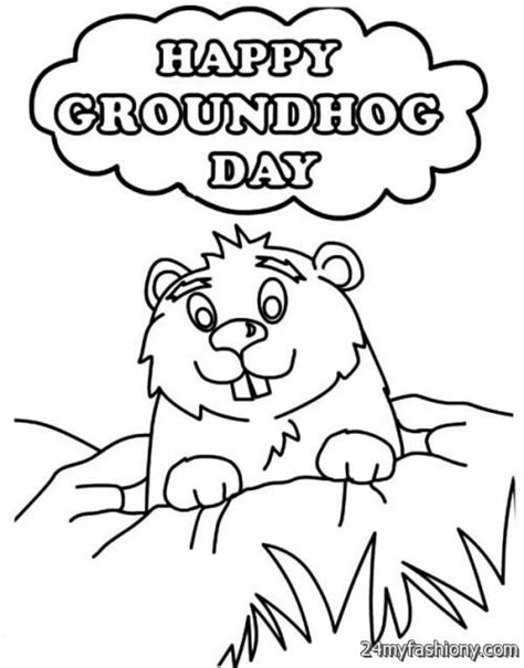 groundhog day one day sheet groundhog day coloring sheet asoboo info