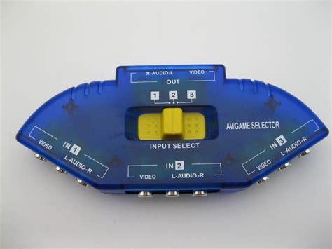 Tv Switch Box Rca 3 Input 1 Output With Composite Av Rca Cable 3way 3 input 1 output audio tv av rca switch switcher splitter box av patch jpg