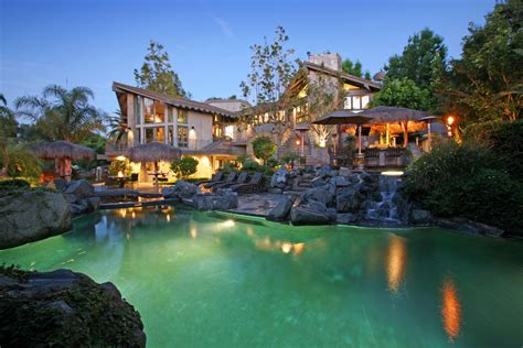 exotic homes luxury estate with stunning rock lagoon pool in anaheim