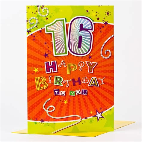 What To Write In 16th Birthday Card Giant 16th Birthday Card Happy Birthday To You Only 99p
