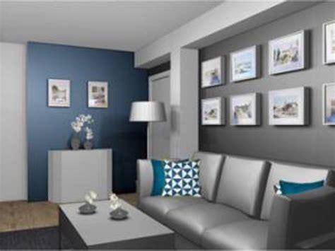 Salon En Bleu by Deco Salon Gris Et Bleu