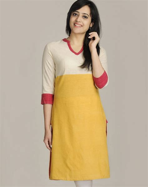 yoke pattern kurti cotton khadi empireline contrast yoke long kurta what i