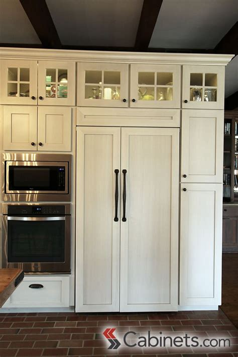 how to make cabinets look rustic these shaker style antique white cabinets with a brushed