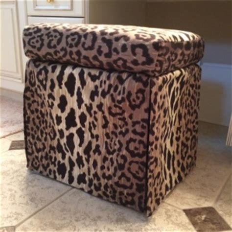 leopard print chair and ottoman from drab to fab how to transform a wire stool to a