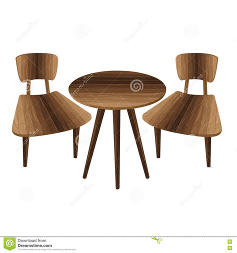 Table With Two Chairs by Table And Two Chairs On A White Background Wooden