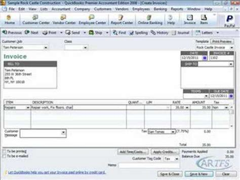 quickbooks tutorial video download quickbooks tutorial customers and invoices youtube
