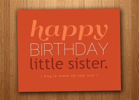 printable birthday cards for a sister little sister funny birthday card printable 3