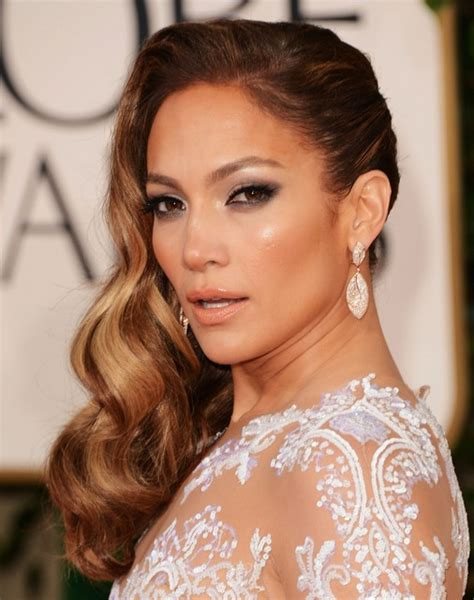 hairstyles to the side long hair jennifer lopez long hairstyles side waves hair popular
