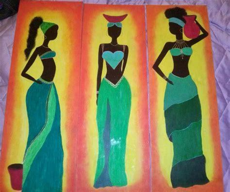 imagenes de negras en cuadros cuadros negras africanas aguscreaciones elo7