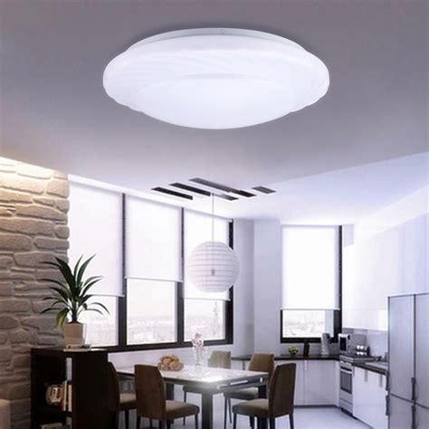 Led Kitchen Ceiling Lighting Fixtures 18w Led Ceiling Light Recessed Fixture L Bedroom Kitchen Lighting Ebay