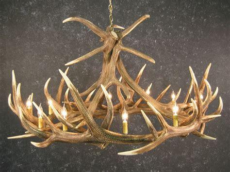 Elk 9 Antler Chandelier   SALE