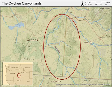 owyhee canyonlands map the magnificent owyhee canyonlands