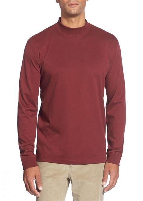 T Shirt Cutter And Buck White cutter buck belfair sleeve mock neck pima cotton t shirt