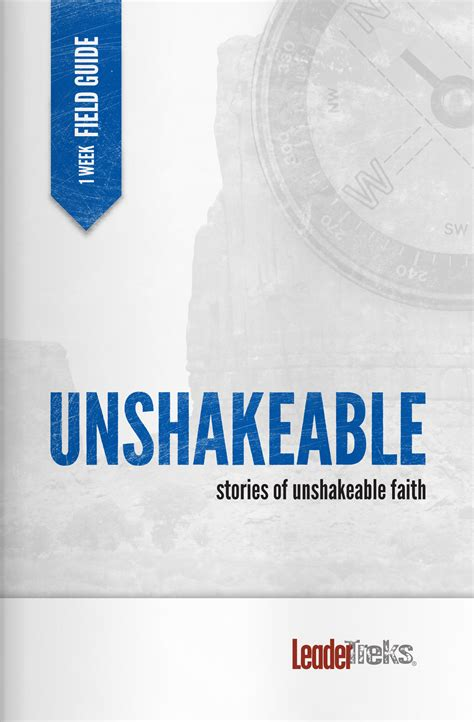 unshakeable your guide to 1471164934 unshakeable on trip journal leadertreks youth ministry