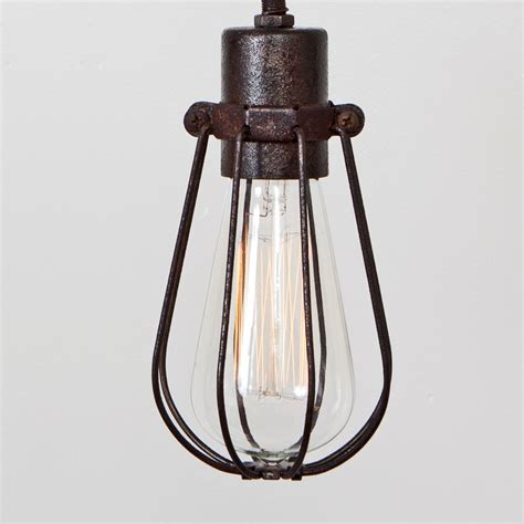 Light Cage by Cage Only Oval Wire Bulb Cage Pendant Sold Separately