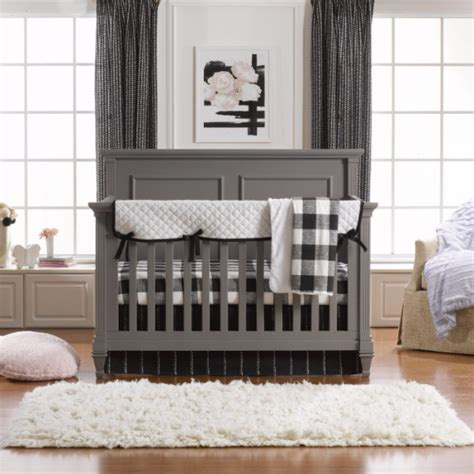 Black Crib Bedding Sets Liz And Roo Crib Bedding Set In The Chic Modern Black White Shop Adorable Gender Neutral