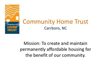 community home trust presentation to edpp committee