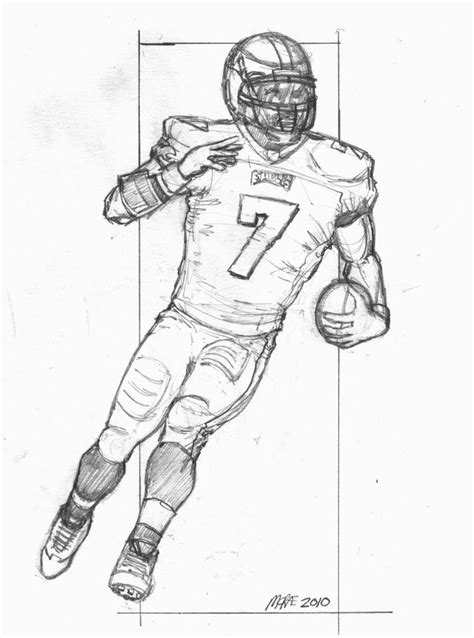coloring pages of football stuff how to draw football players football player drawings