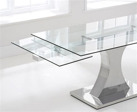 Athena 160cm Glass Extending Dining Table The Great Extending Glass Dining Table