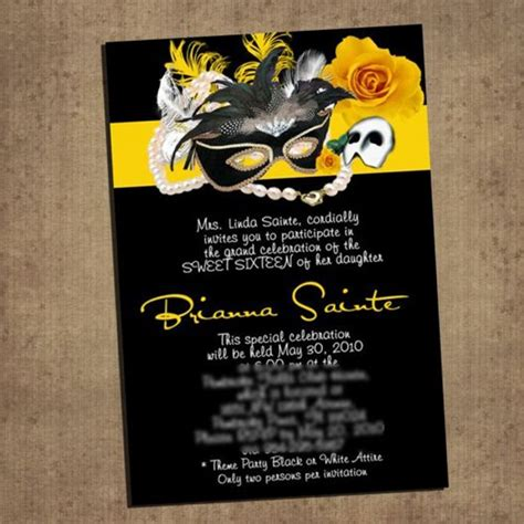 yellow phantom   opera invitation cards