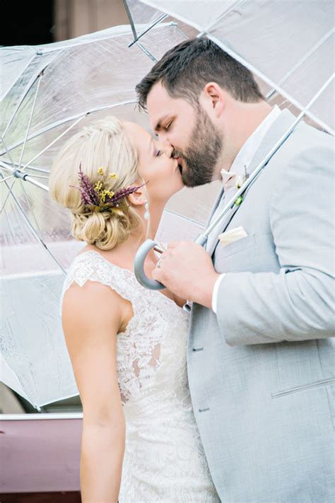 Wedding Hair For Rainy Day by Purple Rainy Day Wedding