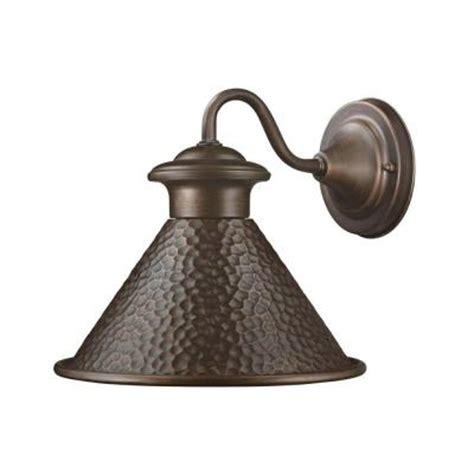 Landscape Lighting At Home Depot Hton Bay Essen Antique Copper Outdoor Wall Lantern