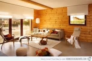 Wood Walls In Living Room wooden panel walls in 15 living room designs decoration