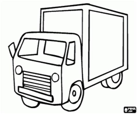 box truck coloring page trucks coloring pages printable games