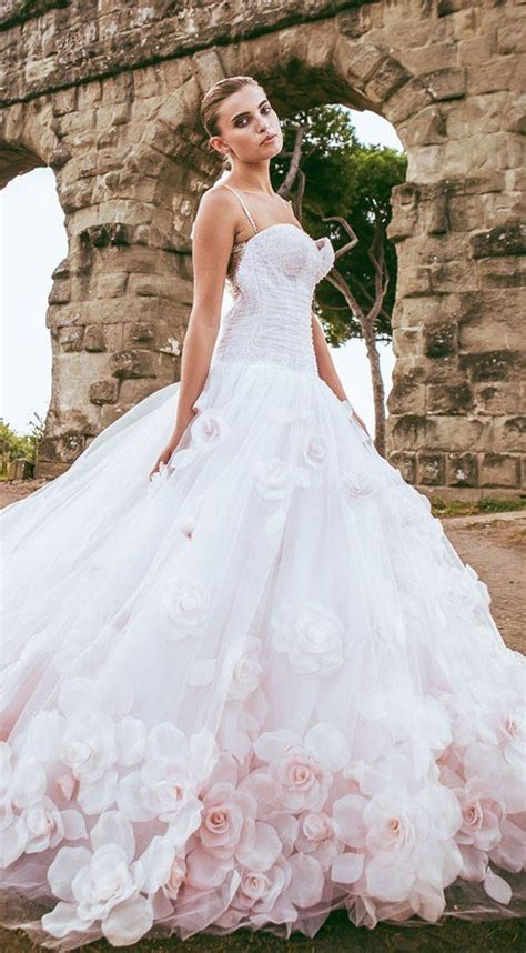 Wedding Flower Dresses by Amazing Alessandro Angelozzi Couture 2015 Collection