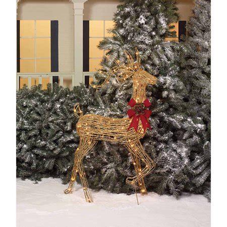 walmart decorative deer outdoor time 52 quot glittering grapevine look turning buck light sculpture walmart