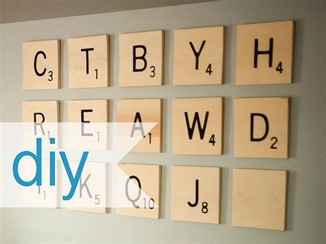 diy scrabble diy scrabble wall diy wall