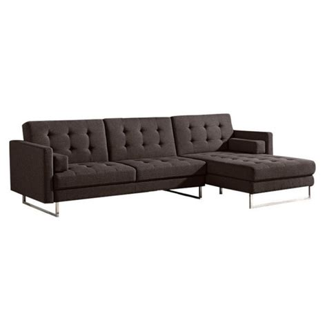 tufted sectional with chaise diamond sofa opus right tufted convertible chaise