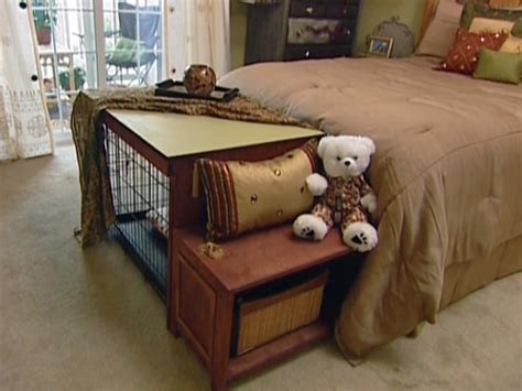 dog crate furniture bench how to build a dog crate cover bench seat hgtv