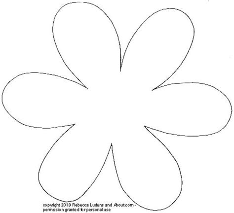 large flower template printable large flower template