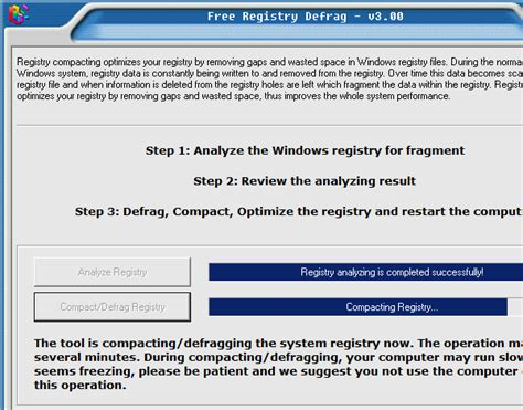 registry defrag free registry defrag software for windows 7 xp 32 bit 64